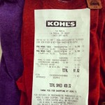Less than $2 for two shirts. I'm giddy. #supersavings #savings #coupon #hypercoupon #kohls #deals #giddy #sale #shirt