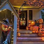 A law enacted last month bars sex offenders from using Halloween decorations ...
