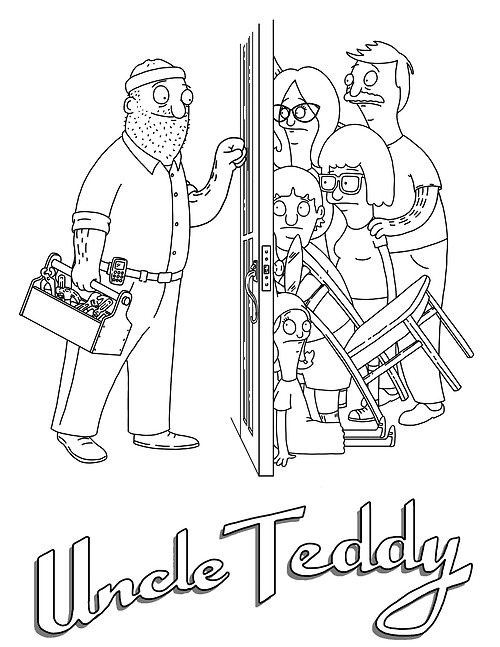 bobs burger coloring pages - photo#8