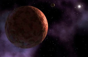 A newly discovered planet-like object, dubbed Sedna is seen in this artist's concept