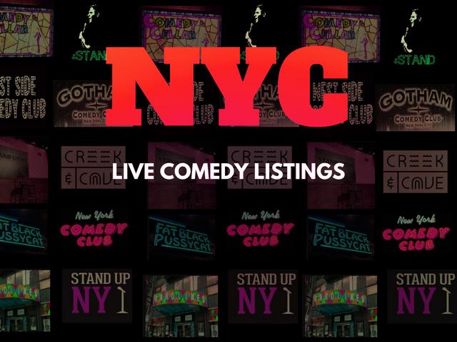 New York City's Live Comedy Calendar! Upcoming Shows for September